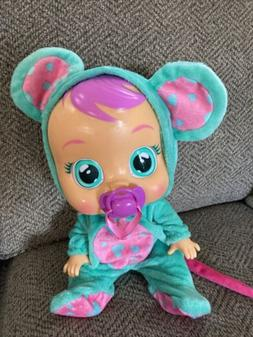 Cry Babies LALA 10581 Baby Doll Girls Teal Mouse IMC Toys Cr