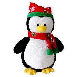 """Cuddly Hat Scarf Black Penguin Doll 7 """" Soft Baby Stuffed An"""