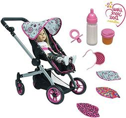 The New York Doll Collection Deluxe Dolls Stroller - 8-piece