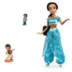 "Disney Classic Princess JASMINE 11.5"" Doll & 2.5"" Baby A"
