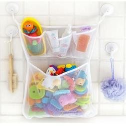 Doll Baby Toy Bath Bathroom Mesh Storage Bag Stuff Suction B
