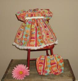 """Handmade Doll Clothes for 18"""" - 20"""" Baby Dolls - """"Dots & Str"""