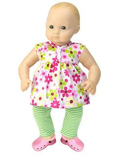 15 inch Baby Doll Complete Outfit with Sandals, Floral Blous