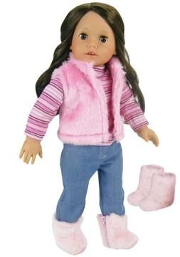 Doll Clothes for 18 Inch Doll 4 Pc. Doll Outfit Set of Pink