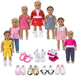 Howona 18 inch Doll Clothes Gift Girls - Include 7 Set Toys