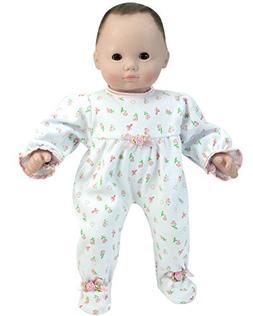 Sophia's 15 Inch Baby Doll Pajamas, Floral Print Doll Sleepe