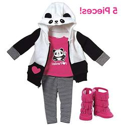 "Adora Amazing Girls 18"" Doll Clothes ""Panda Fun"""