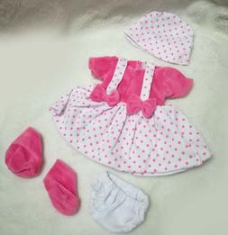 Doll pink Clothes Sets Suit  for 11 inch Reborn Baby Dolls D