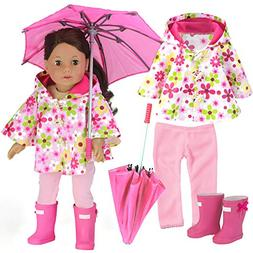 Sophia's 4 Pc. Doll Clothing Set: Floral Doll Poncho with Le