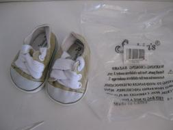 "Doll Shoes / Sneakers Tan Khaki  Fits 18"" Dolls and 13"" Baby"