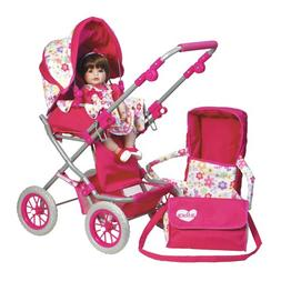 "Adora Baby Doll Stroller 3 in 1 Deluxe 20"" Toddler 21"" -31"""