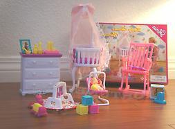 GLORIA DOLLHOUSE FURNITURE SIZE BABY HOME NURSERY W/ Crib PL
