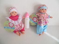 Baby Dolls 2 Mini Toysmith Baby Dolls Caucasian White OUTFIT
