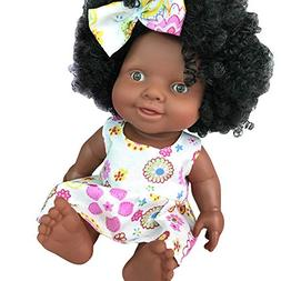 he shao ju Baby Movable Joint African Doll Toy Black Doll Be