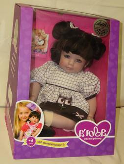 "Adora Dolls CURLY WHIRLY - 20"" BABY Doll with Brunette Hair"