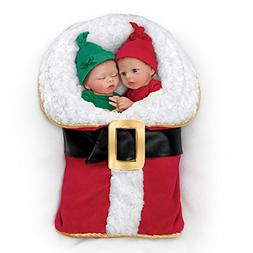 Donna Lee Twin Baby Doll Set With Santa Suit Shaped Bunting