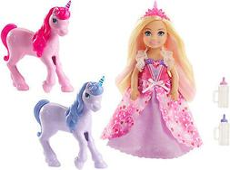 Barbie Dreamtopia Gift Set With Chelsea Princess and 2 Baby