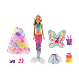 Barbie Dreamtopia Rainbow Cove Fairytale Dress Up Set, Blond