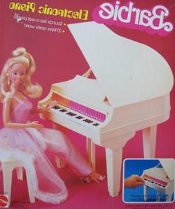BARBIE ELECTRONIC PIANO - BABY GRAND Piano w BENCH & More!