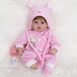 ENA Reborn Baby Doll Realistic Silicone Vinyl Baby 16-inch W