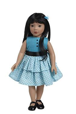 Starpath Asian Girl Doll – 18' Vinyl, Included Custom Fair