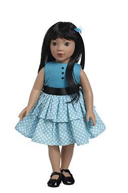 Starpath Asian Girl Doll – 18' Vinyl, Included Custom Fair