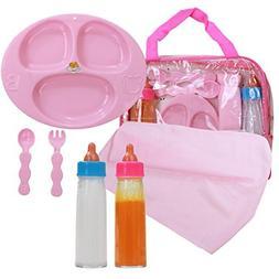 Baby Doll Feeding Care Set, Magic Juice & Magic Milk Bottles