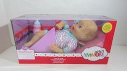 Fisher Price Baby So New Doll Little Mommy purple zebra stri