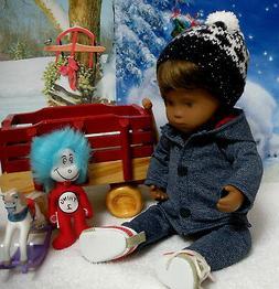 Fits 12 inch Sasha Baby Doll ... Denim Hooded Jacket ... D98