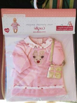 """Fits 12"""" Corolle Mon Premier Bebe doll outfit with purse, Fa"""