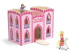 Melissa & Doug Fold and Go Wooden Princess Castle With 2 Roy