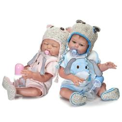 Twins Anatomically Correct Boy and Girl Reborn Baby Dolls Fu
