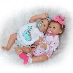 Full Body Silicone Reborn Baby Dolls Anatomically Correct Tw