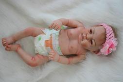 "Full Body Silicone Vinyl 22"" Newborn Reborn Baby Doll Girl"
