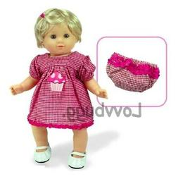 Gingham Cupcake Dress Diaper Cover for Bitty Baby 15 inch Do