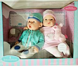"MADAME ALEXANDER GIRL & BOY NEWBORN NURSERY 16"" TWINS MIDD"