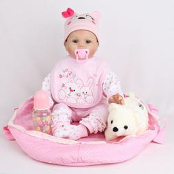 GIRL REBORN BABY DOLL REALISTIC SILICONE VINYL TODDLER WITH
