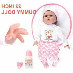 Handmade 22inch Lifelike Baby Girl Doll Reborn Newborn Doll