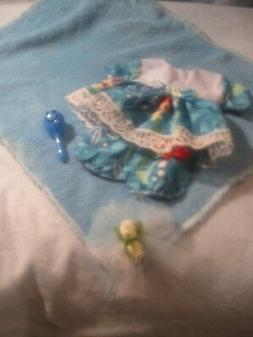 Handmade Blue Little Mermaid dress Bloomers, Blanket fits 10