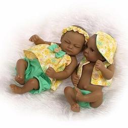 Handmade Lifelike Reborn Doll Twins Baby Dolls Full Silicone