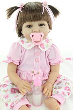 """OCSDOLL MaiDe Reborn Baby Dolls 22"""" Cute Realistic Soft Sili"""