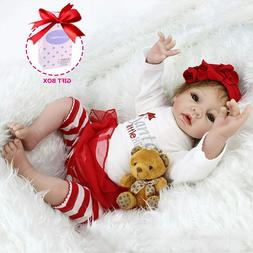 "Handmade 22"" Reborn Doll Newborn Gift Lifelike Soft Vinyl Si"