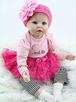 "NPK Handmade Reborn Baby Dolls Girl Lifelike 22"" Soft Silico"