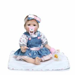 Handmade Silicone Lifelike Reborn Baby Dolls Toddler Girls B