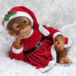 Holly The Holiday  Monkey Doll by Ashton Drake Galleries New