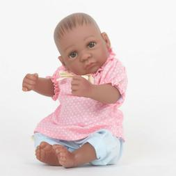 """Huaggable 11"""" Reborn African American Baby Doll Clothes Set"""