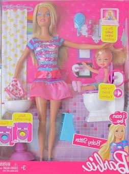 BARBIE I Can Be... BABY SITTER w 'FLUSHING' TOILET, BARBIE D
