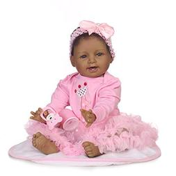 Icradle Biracial Reborn Baby Doll Black African American Gir