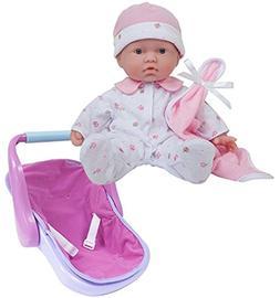JC Toys Bundle Includes 2 Items, La Baby 11-inch Washable So