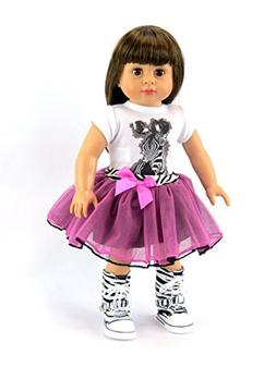 """Isabella in a Zebra and Hot Pink Tutu Set -18"""" doll and ou"""